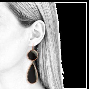 Baumelnde Ohrringe für Frauen schwarzer Onyx