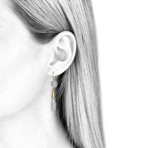 Ohrringe für Frauen in Bergkristall und Gold