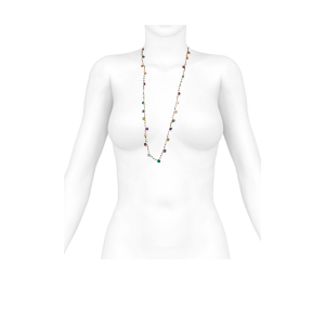 long necklace for women multi stones multi colors
